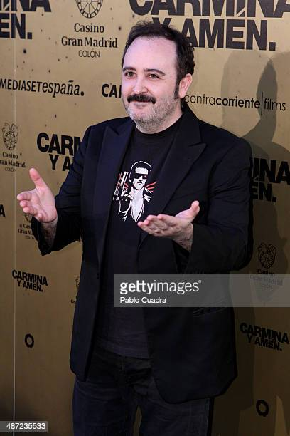 Actor Carlos Areces attends the 'Carmina y Amen' premiere at the Callao cinema on April 28 2014 in Madrid Spain