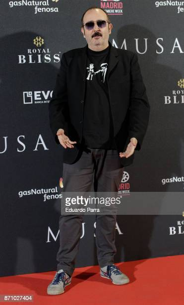 Actor Carlos Areces attends the 'Musa' premiere at Capitol cinema on November 6 2017 in Madrid Spain