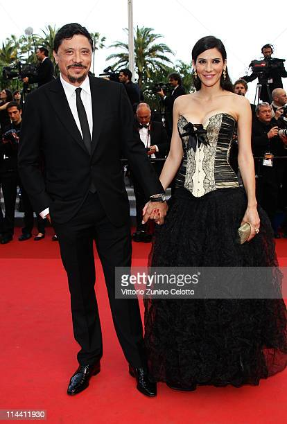 Actor Carlos Bardem and guest attend the The Skin I Live In premiere at the Palais des Festivals during the 64th Cannes Film Festival on May 19 2011...