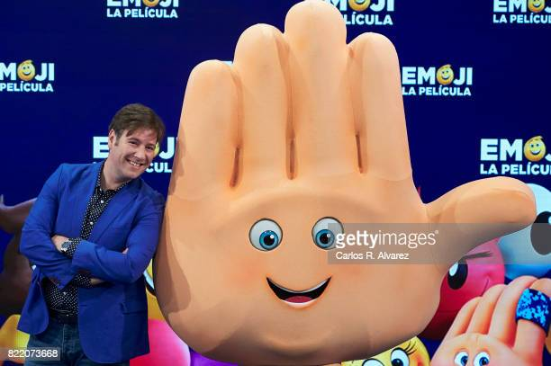 Actor Carlos Latre attends 'Emoji La Pelicula' photocall at La Casa del Lector on July 25 2017 in Madrid Spain