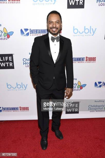 Actor Carlos Moreno Jr. Attends Byron Allen's Oscar Gala viewing party to support The Children's Hospital Los Angeles at the Beverly Wilshire Four...