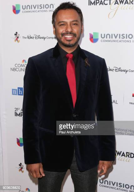 Actor Carlos Moreno Jr attends the National Hispanic Media Coalition's 21st annual Impact Awards at the Beverly Wilshire Four Seasons Hotel on...