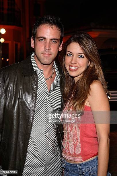Actor Carlos Ponce and his wife Veronica attend the Dewar's 12 Texas Hold 'Em Charity Poker Tournament hosted by Alex Rodriguez on January 21 2006 in...