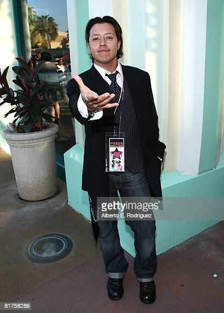 Actor Carlos Ramirez arrives at Popstar Magazine's premiere of The GGirls Music Video held at the AMC theaters in Downtown Disney on June 28 2008 in...