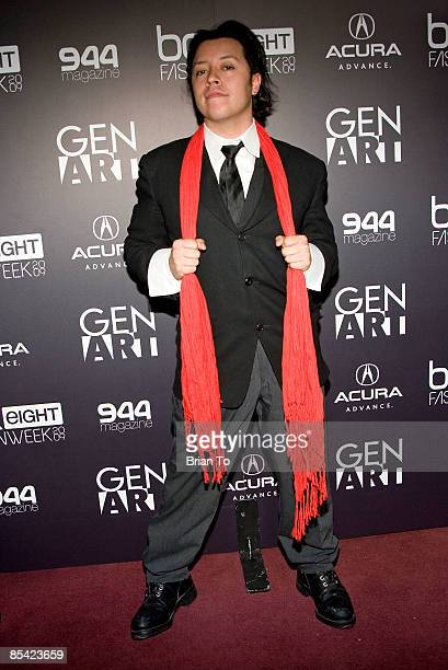 Actor Carlos Ramirez poses at the Gen Art LA Fall Fashion Show on March 13 2009 at the LA Theater in Los Angeles California