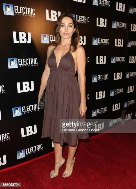 Actor Carlotta Montanari attends the premiere of Electric Entertainment's LBJ at ArcLight Hollywood on October 24 2017 in Hollywood California