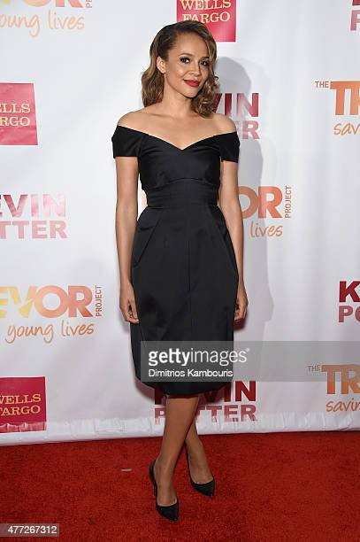 Actor Carmen Ejogo attends TrevorLIVE New York honoring Sir Ian McKellen Representative Ryan Fecteau and Johnson Johnson for the Trevor Project...