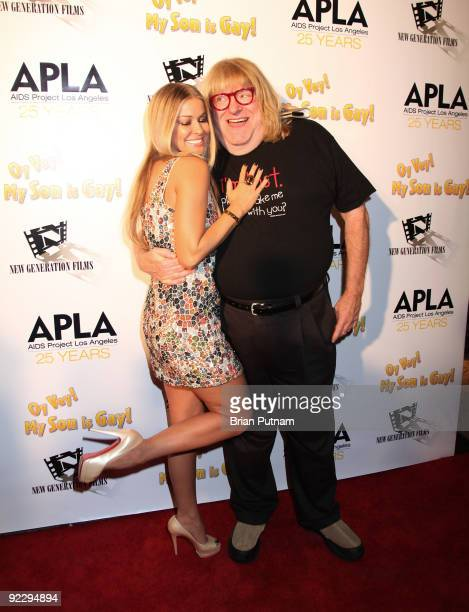Actor Carmen Electra and Bruce Vilanch arrive for the premiere of 'Oye Vey My Son is Gay' at the Vista Theatre on October 22 2009 in Los Angeles...
