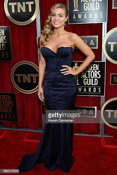 Actor Carmen Electra arrives at the 19th Annual Screen Actors Guild Awards held at The Shrine Auditorium on January 27, 2013 in Los Angeles,...