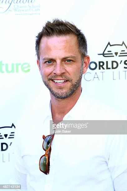 Actor Carmine Giovinazzo attends the Kitty Bungalow Charm School for Wayward Cats 2015 CATbaret Benefit concert at the Avalon Hollywood on August 1...