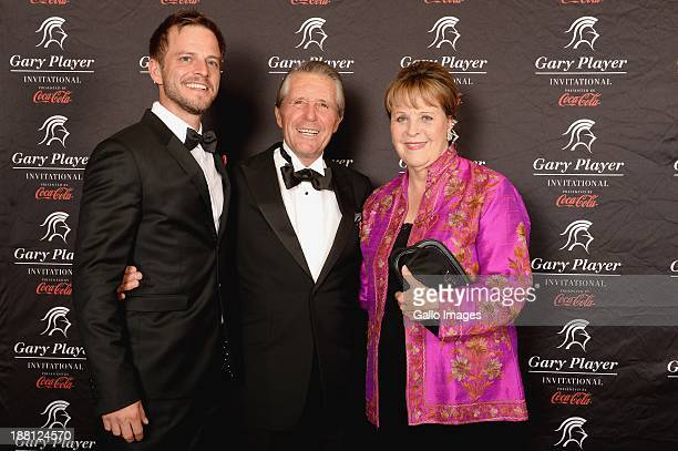 Actor Carmine Giovinazzo Gary Player and Vivienne Player attend the the Gala Dinner and Charitable Auction of the Gary Player Invitational presented...