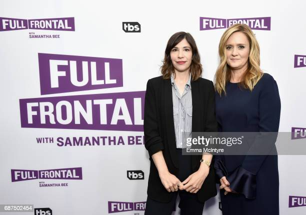 Actor Carrie Brownstein and Executive producer/host Samantha Bee at the Full Frontal with Samantha Bee FYC Event 2017 LA at the Samuel Goldwyn...