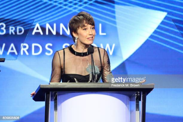 Actor Carrie Coon accepts the award for 'Individual Achievement in Drama' for 'The Leftovers' and 'Fargo' onstage at the 33rd Annual Television...