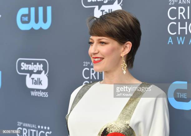 Actor Carrie Coon attends The 23rd Annual Critics' Choice Awards at Barker Hangar on January 11 2018 in Santa Monica California
