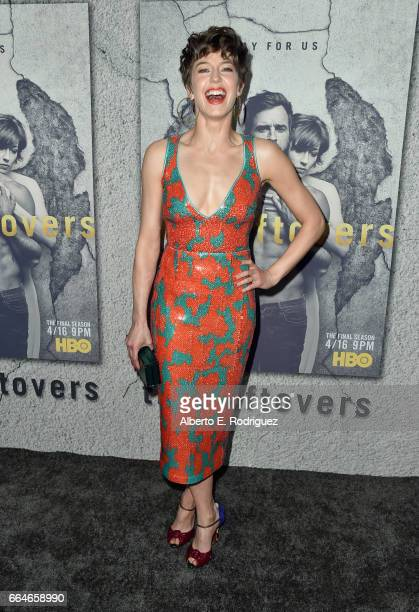 Actor Carrie Coon attends the premiere of HBO's 'The Leftovers' Season 3 at Avalon Hollywood on April 4 2017 in Los Angeles California
