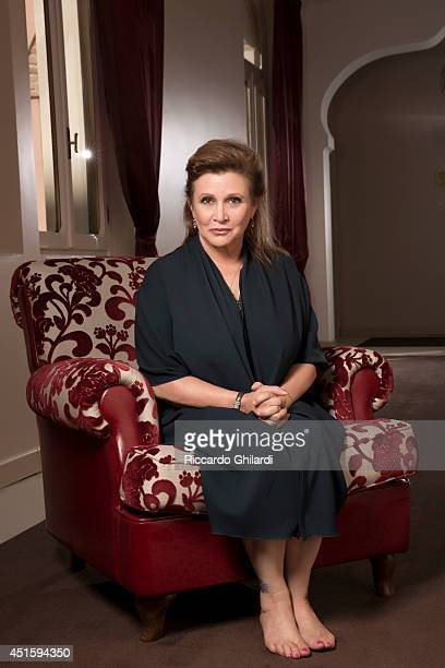 Actor Carrie Fisher is photographed on September 3 2013 in Rome Italy