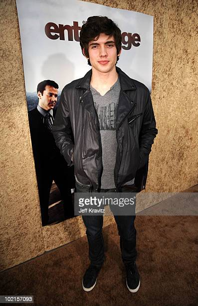 Actor Carter Jenkins arrives at HBO's 'Entourage' Season 7 premiere held at Paramount Theater on the Paramount Studios lot on June 16 2010 in...