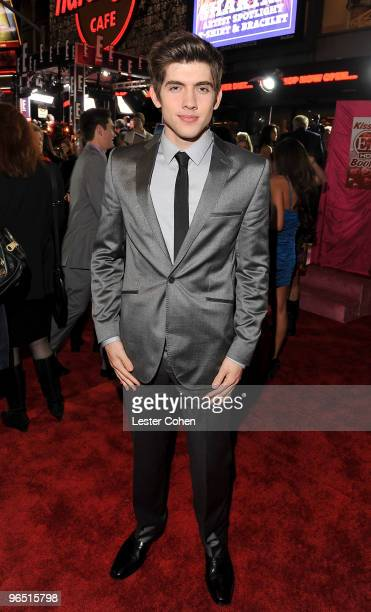 Actor Carter Jenkins arrives at the 'Valentine's Day' Los Angeles Premiere at Grauman's Chinese Theatre on February 8 2010 in Hollywood California