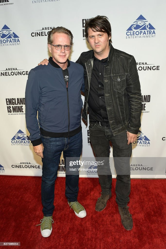 Actor Cary Elwes (L) and producer Orian Williams attends the screening of 'England Is Mine' at The Montalban on August 22, 2017 in Hollywood, California.