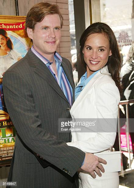 Actor Cary Elwes and wife Lisa Marie attend the 'Ella Enchanted' film premiere at the Clearview Beekman Theatre March 28 2004 in New York City