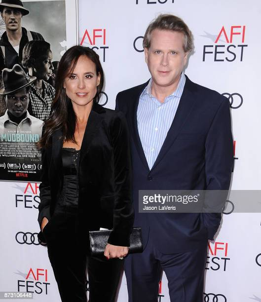 Actor Cary Elwes and wife Lisa Marie Kubikoff attend the 2017 AFI Fest opening night gala screening of 'Mudbound' at TCL Chinese Theatre on November...