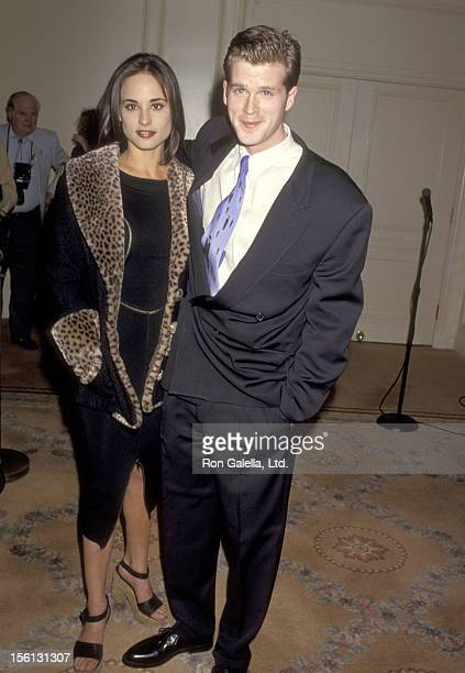 Actor Cary Elwes and wife Lisa Marie Kurbikoff attend the 'Screen Actors Guild's Jack Oakie Awards' on January 10 1994 at Regent Beverly Wilshire...