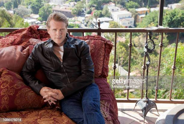 Actor Cary Elwes is photographed for Simon Schuster on August 22 2014 in Los Angeles California