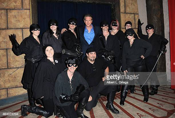 Actor Cary Elwes poses with his character the dread pirate roberts at Nerds Like Us Host an Evening with Cary Elwes begining with a book signing for...
