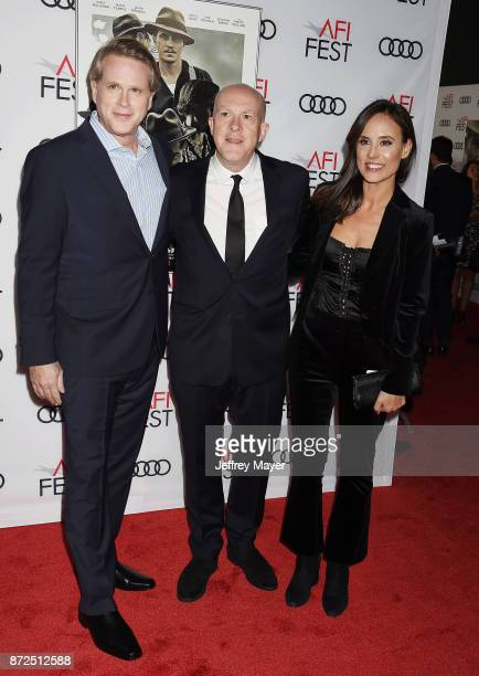 Actor Cary Elwes, producer Cassian Elwes and actor Lisa Marie Kubikoff attend the screening of Netflix's 'Mudbound' at the Opening Night Gala of AFI...