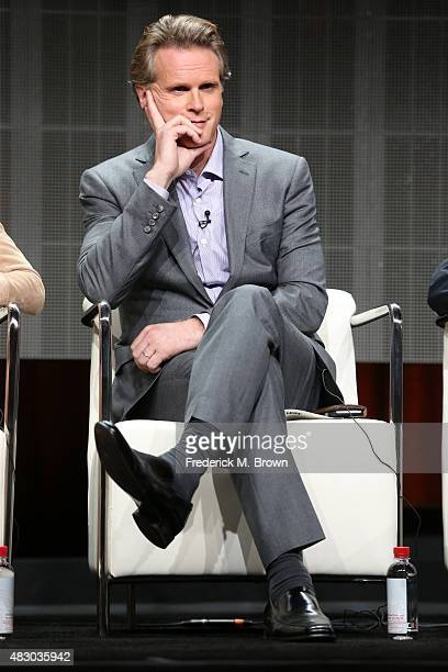 Actor Cary Elwes speaks onstage during 'The Art of More' panel discussion at the Crackle portion of the 2015 Summer TCA Tour at The Beverly Hilton...