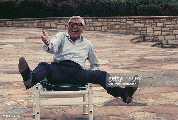 Actor Cary Grant messing about circa 1978