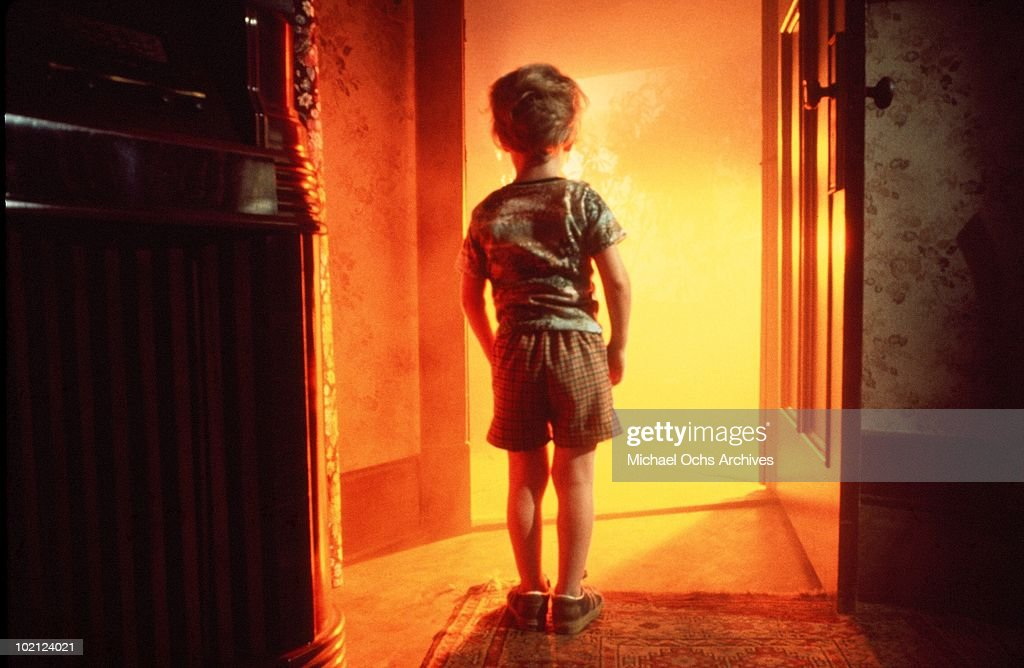 Actor Cary Guffey in a scene from the movie 'Close Encounters of the Third Kind' in 1977.