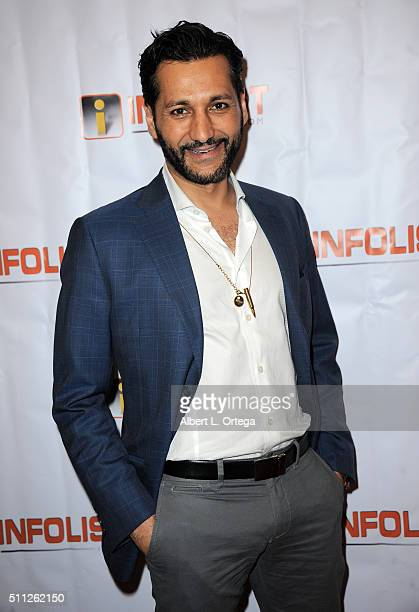 Actor Cas Anvar arrives for the InfoList PreOscar Soiree And Birthday Party for Jeff Gund held at OHM Nightclub on February 18 2016 in Hollywood...