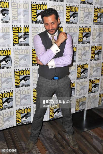 Actor Cas Anvar attends 'The Expanse' press line at Comic Con 2017 Day 3 on July 22 2017 in San Diego California