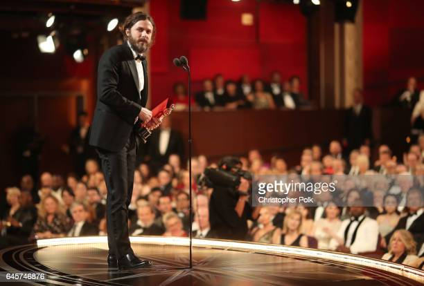 Actor Casey Affleck accepts the Best Actor award for 'Manchester by the Sea' onstage during the 89th Annual Academy Awards at Hollywood Highland...