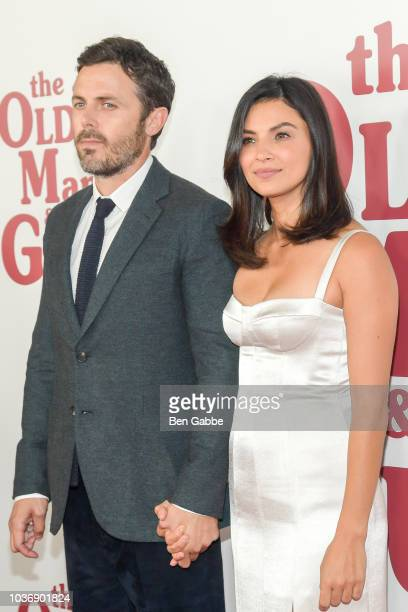 Actor Casey Affleck and actress Floriana Lima attend The Old Man The Gun New York Premiere at Paris Theatre on September 20 2018 in New York City