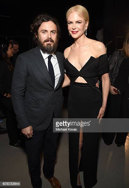 Actor Casey Affleck and actress Nicole Kidman attend The 22nd Annual Critics' Choice Awards at Barker Hangar on December 11 2016 in Santa Monica...