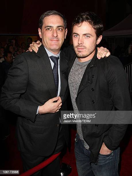 Actor Casey Affleck and John Lesher arrive at the premiere of Miramax Films' 'No Country For Old Men' held at the El Capitan Theater on November 4...