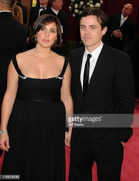 Actor Casey Affleck and Summer Phoenix attend the 80th Annual Academy Awards at the Kodak Theatre on February 24 2008 in Los Angeles California