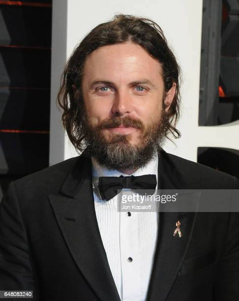 Actor Casey Affleck arrives at the 2017 Vanity Fair Oscar Party Hosted By Graydon Carter at Wallis Annenberg Center for the Performing Arts on...