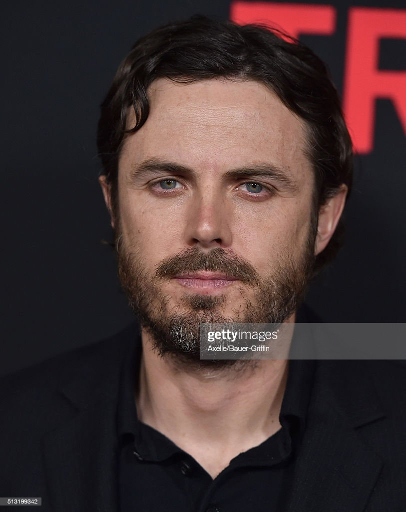 Actor Casey Affleck arrives at the premiere of Open Road's 'Triple 9' at Regal Cinemas L.A. Live on February 16, 2016 in Los Angeles, California.