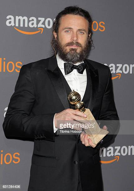 Actor Casey Affleck attends Amazon Studios Golden Globes Party at The Beverly Hilton Hotel on January 8 2017 in Beverly Hills California
