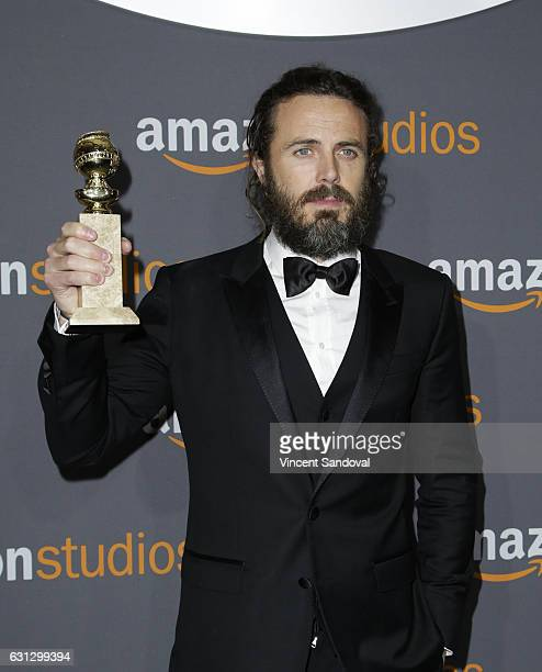 Actor Casey Affleck attends Amazon Studios Golden Globes Party at The Beverly Hilton Hotel on January 8, 2017 in Beverly Hills, California.