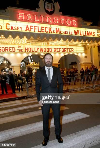 Actor Casey Affleck attends the Cinema Vanguard Award during the 32nd Santa Barbara International Film Festival at the Arlington Theatre on February...