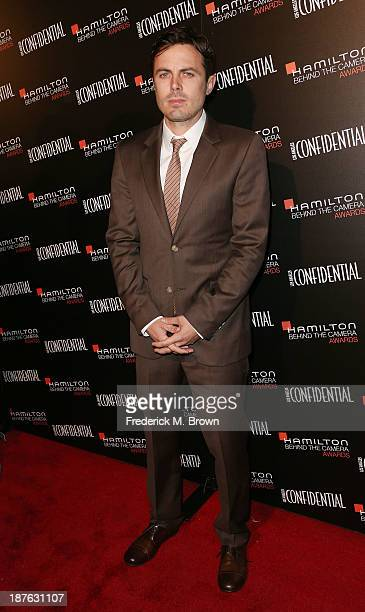Actor Casey Affleck attends the Seventh Annual Hamilton Behind the Camera Awards at The Wilshire Ebell Theatre on November 10 2013 in Los Angeles...