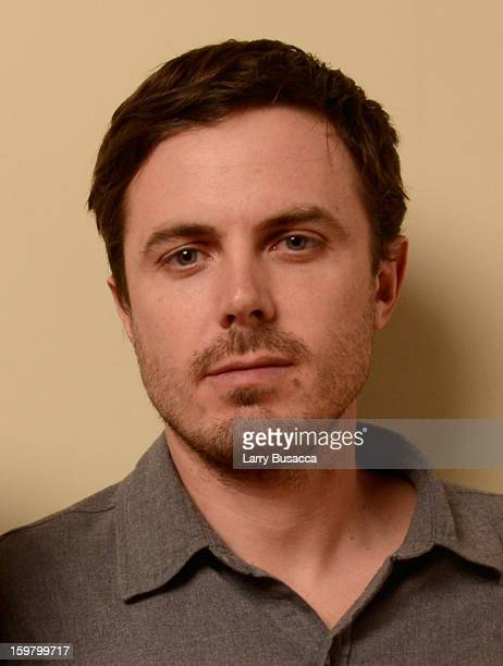 Actor Casey Affleck poses for a portrait during the 2013 Sundance Film Festival at the Getty Images Portrait Studio at Village at the Lift on January...