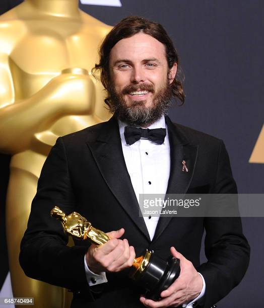 Actor Casey Affleck poses in the press room at the 89th annual Academy Awards at Hollywood & Highland Center on February 26, 2017 in Hollywood,...