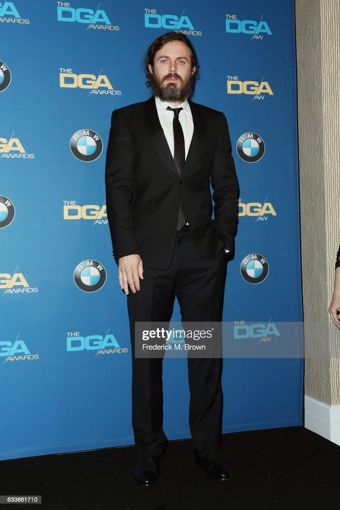 Actor Casey Affleck poses in the press room during the 69th Annual Directors Guild of America Awards at The Beverly Hilton Hotel on February 4, 2017 in Beverly Hills, California.