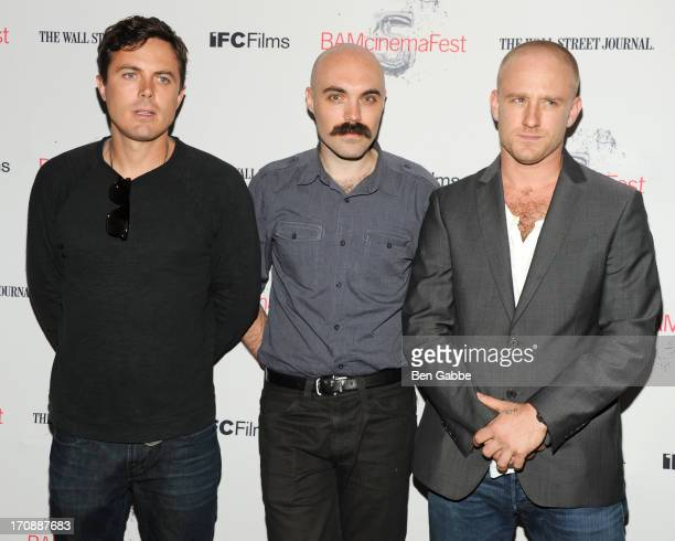 Actor Casey Affleck, writer/director David Lowery and actor Ben Foster attend the BAMcinemaFest 2013 and The Cinema Society opening night premiere of...