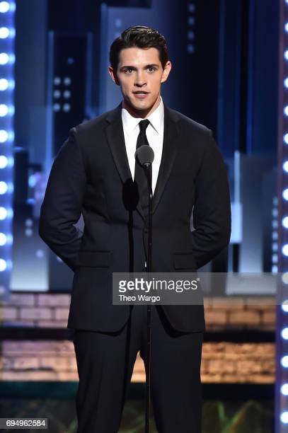 Actor Casey Cott speaks onstage during the 2017 Tony Awards at Radio City Music Hall on June 11 2017 in New York City